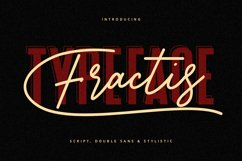 Fractis Typeface Collection Product Image 1