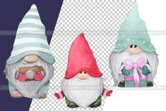 Watercolor gnome christmas png clipart. Holiday gnome Product Image 6