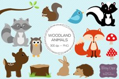 Woodland Animals Digital Art Set Clipart Commercial Use Product Image 2
