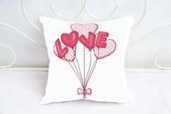 Love Balloons Heart Shaped, Valentine Day svg, dxf, png, jpg Product Image 3