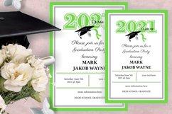Invitation Template editable text - GREEN - Graduation 2021 Product Image 1