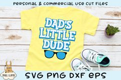 Dad's Little Dude SVG Product Image 1