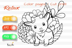 Litte Goat - Cut File and Coloring Page Product Image 1