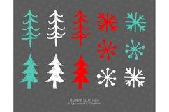 Winter Clipart, Cute Penguins, Winter Graphics, Let it Snow Product Image 5