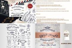 Huge vector flourishes Bundle! More than 500 elements Product Image 2