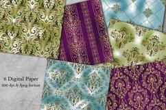 Victorian damask seamless pattern. Digital Paper. Scrapbook Product Image 1