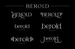 Berold - serif artistic font Product Image 3