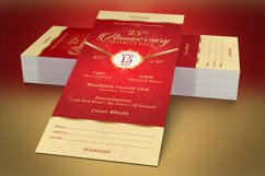 Red Gold Anniversary Gala Ticket Template Product Image 2