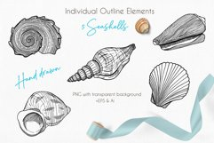 Underwater - Hand drawn vector clipart collection Product Image 4