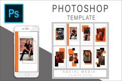 Orange Instagram Stories Photoshop Template Post Product Image 1