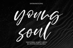 Young Soul. Textured script font Product Image 1