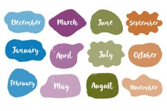Speech drawing set.Month year text. Product Image 1