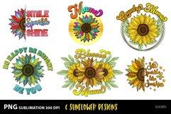 Sunflower Sublimation Designs MiniBundle with Leopard Print Product Image 1