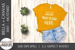 Bella Canvas 3001 Woman's T Shirt Mockup, Mustard Yellow Product Image 1