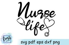 Nurse Life Svg Nurse Svg Stethoscope Heart SVG Product Image 2