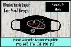 Nurse Life Mask Rhinestone SVG Template Product Image 1