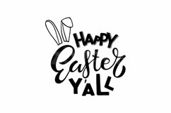Happy Easter Y'all SVG. Hand drawn Spring lettering. Product Image 2