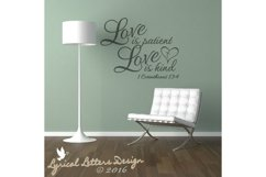Love Is Patient Love is Kind 1 Corinthians 13 SVG DXF LL022E Product Image 2