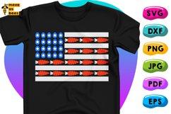 Easter Flag Svg, Funny Easter Shirt Svg, Eggs & Carrots Flag Product Image 1