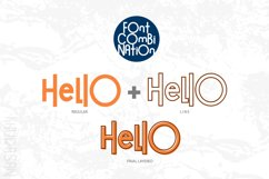 Hello Guys Layered Font Product Image 4