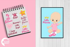 Daddy's little princess clipart, graphics, illustrations AMB-1293 Product Image 2