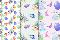Easter watercolor clipart, easter cute bunny Product Image 3
