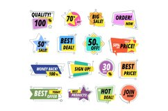 Sale quality badges. Assured label badge. Promo sticker excl Product Image 1