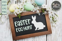 Bunny SVG | Easter | Rabbit Silhouette Product Image 5