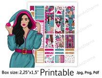 "Christmas Printable Sticker BoxSize 2,25""x1,5"" Product Image 5"