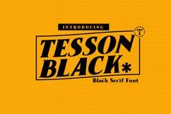 Tesson Black Serif Product Image 1