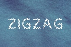 Zigzag handwritten font in tff and otf Product Image 1