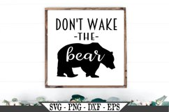 Don't Wake The Bear SVG Product Image 1