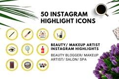 Instagram Story Highlight Icons Yellow Watercolor- Set of 50 Product Image 2