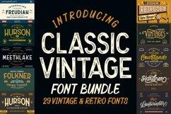THE CLASSIC VINTAGE Font Bundles Product Image 1