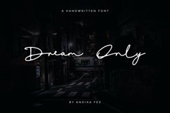 Dream Only   Handwritten Font Product Image 1