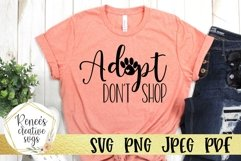 Adopt Don't Shop | Pets | SVG Cutting File Product Image 1