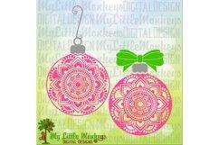 Mandala Flower Christmas Ornament Product Image 1