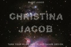 Simply Stars - Alphabets Star Font For Crafters Product Image 3