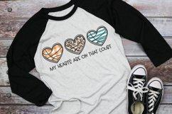 Basketball Mom - Basketball Heart Trio - Basketball SVG Product Image 1