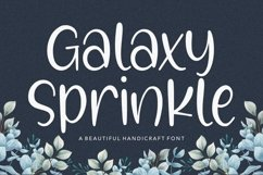 Galaxy Sprinkle Beautiful Handcraft Font Product Image 1