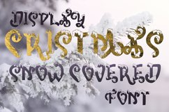 Snow-covered display font Product Image 2