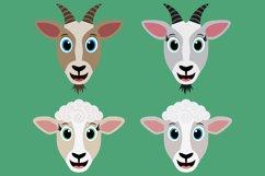 Barnyard Animal Clipart Bundle, Happy Faces, PNG, JPEG, EPS Product Image 6