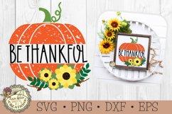 Pumpkin Sunflower SVG Sign