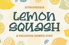 Lemon Squash - a Delicious Qirky Font Product Image 1