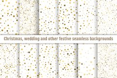 Digital papers seamless gold star confetti Product Image 1