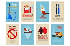 Different vector cards with illustrations of various tools f Product Image 1