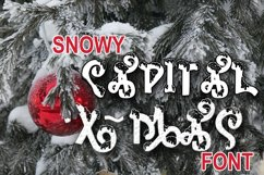 Snow-covered display font Product Image 6