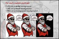 Naughty Santa, Christmas T Shirt Design, Christmas Clipart Product Image 4