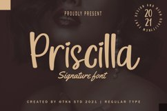Priscilla - Cute Girly Font Product Image 1