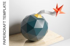 PDF Template of Canon Bomb Papercraft / 3D Papercraft Product Image 4